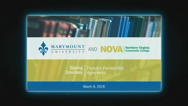 NOVA and Marymount University Transfer Partnership Agreement Signing Ceremony
