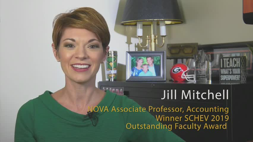 Jill Mitchell 2019 SCHEV Outstanding Faculty Award Recipient