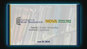 University of Mary Washington and NOVA Memorandum of Understanding